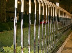 Hockey Stick Fence at Chicago Flower and Garden Show