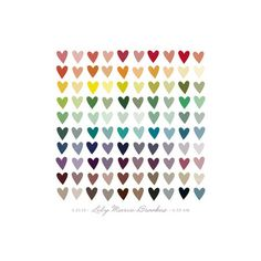 Paper Hearts by InkDot for Minted