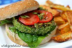 Broco-cajou veggie burger