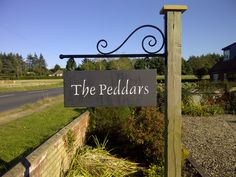 Shabby chic address sign painted on barn wood post for Location plaque garage