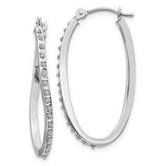1.24 ct tw Intertwined Huggies Styled Diamond Hoop Earrings 14K Gold J,I1