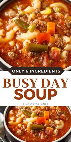 Healthy Soup Recipes, Beef Recipes, Slow Cooker Recipes, Cooking Recipes, Recipes For Soup, Hamburg Soup Recipes, Beef Broth Soup Recipes, Crock Pot Soup Recipes, Easy Crockpot Recipes