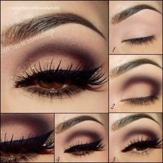 Tutorial for Dark outer lid with Lashes. Perf.!! #makeup