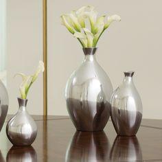 Global Views Spry Vase - Silver - 9.92262