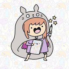 #himoutoumaruchan me Gonna use this for new business cards too Hihi #kawaii #cute #doodle #umaru #umaruchan #totoro #doodle #可愛い #かわいい by kirakiradoodles