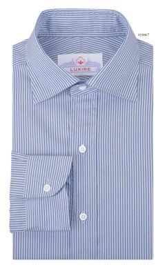 Stripes are a fashion favourite and Vista Blue Dress Stripes Dress shirt from Luxire adds a certain flair to your confident closet: http://custom.luxire.com/products/blue_dress_stripes_gtz49536  Features: NOBD II widespread collar and back side pleats.
