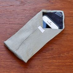 Upcycle a tie into this cool phone case. Photo: Sarah Lipoff