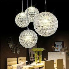 2015 New Crystal Round Ball Chandeliers Led Lighting Indoor Lighting Ceiling Lights Pendant Lamp Glass Light Pendants Seeded Glass Pendant Light From Dhlongten, $67.96  Dhgate.Com