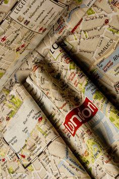 "Estampados español doble ancho "" london map"""