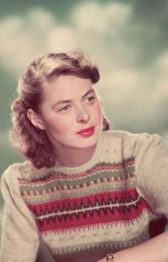 Ingrid Bergman wearing Bohus Stickning