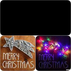 "Cuadro String Art ""Estrella Fugaz"" #hilorama #clavos #hilos #nails #wood #homemade #diy #manualidades #stringart #fils #madera #string #hechoamano #manualitats #estrella #star #navidad #nadal #xmas #christmas #luces #lights"