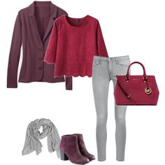How To Wear Maroon For A Soft Summer: The maroon for a soft summer is soft and muted. Next to it on the color wheel is soft purple. Grey is the neutral.