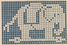 Sentimental Baby: Children's Motifs for Cross Stitch or Filet Crochet Elephant Quilt, Crochet Elephant, Elephant Pattern, Elephant Tapestry, Baby Elephant, Vintage Elephant, Filet Crochet, Crochet Chart, Crochet Cross