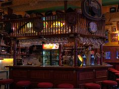 a pub interior (Guinness Pub, Ljubljana), via Flickr.