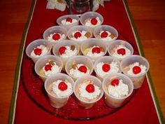 Chocolate Cherry Cheesecake and Cherry Almond Pudding Shots