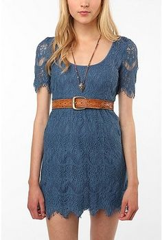 Lace dress, and color is fabulous!
