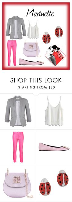"""""""Marinette"""" by dazacrystal23 on Polyvore featuring Miss Selfridge, Chicwish, J Brand, Roger Vivier and Aaron Basha"""