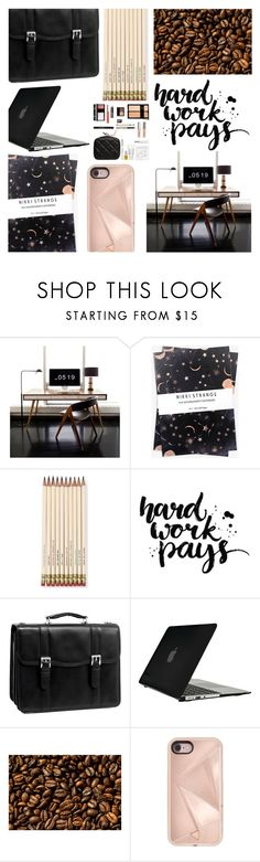 """""""Work Hard Play Hard"""" by dreamingdaisy ❤ liked on Polyvore featuring interior, interiors, interior design, home, home decor, interior decorating, Nikki Strange, Kate Spade, McKleinUSA and Speck"""