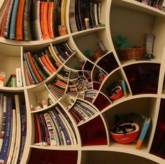 impossible spiral bookcase design