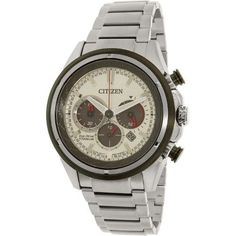 09abd8bac4d This remarkable Men s Citizen Eco-Drive Titanium Chronograph Watch uses  Citizen Super Titanium which is lighter than stainless steel and is powered  by ...