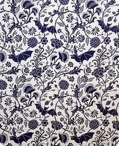 i would love my bedroom to be covered in this bat wallpaper. i love this.