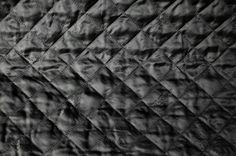 Steppstoff schwarz Karo Stepper, Color Black