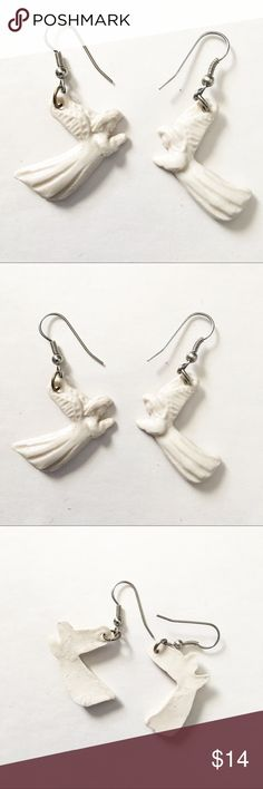 White praying angel earrings White praying angel earrings Jewelry Earrings