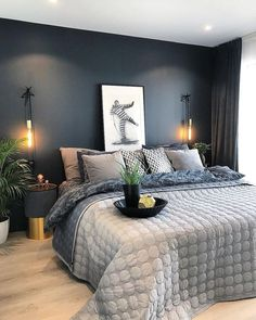 New No Cost Untitled Concepts Got kids ? Then you definitely know that their stuff winds up actually throughout the home! Charcoal Bedroom, Blue Bedroom, Cozy Bedroom, Bedroom Wall, Bedroom Decor, Bedroom Ideas, Twin Xl Bedding, Master Bedroom Design, Bedroom Designs