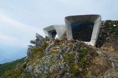 zaha hadid embeds museum for reinhold messner within alpine summit