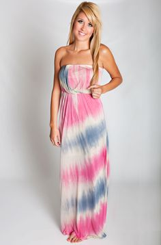 Waterfall Mist Maxi Dress - Dresses
