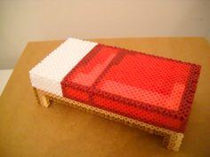 perler 3d minecraft bed