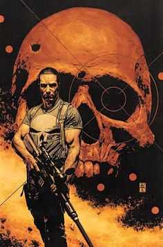 One of the coolest cover ever for the punisher by Tim Bradstreet. The details are stunning but the shadows are as dark as the character.