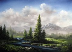 landscape oil painting with Kevin Hill. Learn techniques that can improve oil, acrylic and even watercolor paintings. Oil Painting Lessons, Acrylic Painting Techniques, Painting Videos, Kevin Hill Paintings, Bob Ross Paintings, Fantasy Landscape, Landscape Art, Landscape Paintings, Oil Paintings