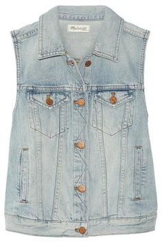 Cute Denim vest #vest #covetme #madewell