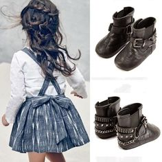And this is how you could style a sweet dress into a rocker chic look for the toddler set! Love the new shoes for babies (the shoe is unisex, eep! Baby Rocker, Rock Chic, Miu Miu Ballet Flats, Bucket Bag, Baby Shoes, Product Launch, Nyc, Boots, Cute