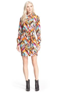 Trina Turk 'Amazing 2' Print Silk Shirtdress available at #Nordstrom