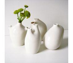 MICHIKO SHIMADA, VITA BUD VASES: only $19 - $29! i love the little guys that look like they have aortas or vena cavas.