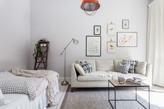 Small light studio apartment
