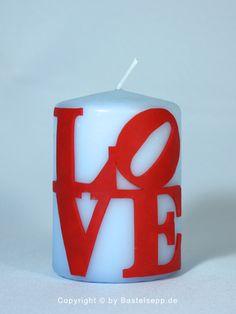 """Kerze New York """"LOVE"""" Jahrestag Liebe Hochzeit von Bastelsepp - Kerzen für jeden Anlass fertig kaufen oder mit unseren Bastelsets selber machen auf DaWanda.com"""