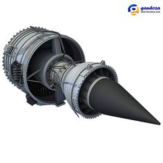 Rolls-Royce Trent 1000 Turbofan Aircraft Engine 3D