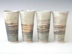 love ceramic tumblers... by Laura B Cooper Ceramics @Etsy http://www.etsy.com/shop/lbcooper