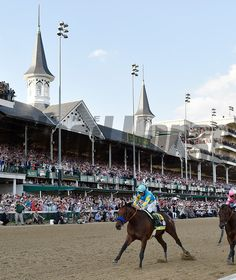 American Pharaoh with jockey Victor Espinoza in the irons wins the Kentucky Derby May 2015 at Churchill Downs in Louisville, Kentucky. Kentucky Derby, Louisville Kentucky, Horse Racing, Race Horses, Triple Crown Winners, American Pharoah, Churchill Downs, Photo Store, Thoroughbred Horse