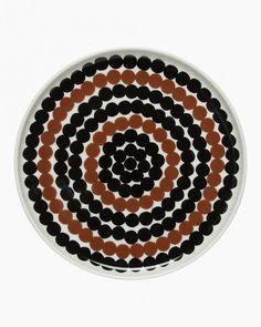 Siirtolapuutarha -lautanen 20cm Marimekko, Sale Items, Stoneware, Microwave, Dishwasher, Porcelain, Plates, Brown, Tableware