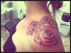 rose shoulder tattoo drawing - Google Search