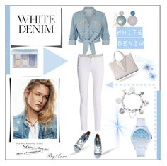 """White Denim"" by anne-977 ❤ liked on Polyvore featuring rag & bone, ZAK, Diesel, Forever 21, Lacoste, ChloBo, whitejeans and contestpolyvore"