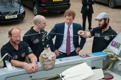 Row 2 Recovery talking to Prince Harry about the cabins of Endeavour