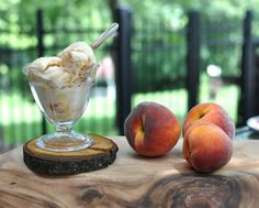 Rustic Peach Ice Cream, a no-cook master recipe for all different fruits @ KitchenParade.com, rich, creamy, totally fruity with a little tang from Greek yogurt. Recipe, tips, nutrition & Weight Watchers points.