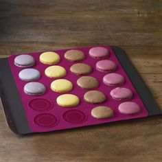 Trudeau Structure Silcone Macaron Baking Mat (Fuchsia) available for sale at the best price at Kitchen Stuff Plus your Specialty Baking Dishes store. Baking Recipes, Dessert Recipes, Desserts, Biscuits, How To Make Macarons, Paris Food, Star Cookies, Sandwich Cookies, Baking Sheet