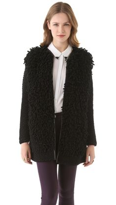 Shopbop: Shearling coat with a twist: M Missoni Loop Stitch Coat