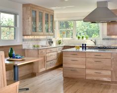 Contemporary Natural Cabinets Design, Pictures, Remodel, Decor and Ideas